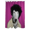 One Bella Casa Pets Rock Punk Polyester Shower Curtain