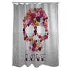 Oliver Gal Bed of Roses Polyester Shower Curtain