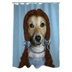 One Bella Casa Pets Rock Ruby Polyester Shower Curtain
