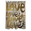 Oliver Gal Four Letter Word Polyester Shower Curtain