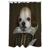 One Bella Casa Pets Rock Shakespeare Polyester Shower Curtain