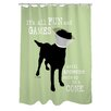 One Bella Casa Doggy Decor Fun and Games Polyester Shower Curtain