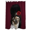 One Bella Casa Pets Rock Tattoo Polyester Shower Curtain