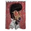 One Bella Casa Pets Rock Vegas Polyester Shower Curtain