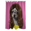 One Bella Casa Pets Rock Wag Polyester Shower Curtain