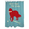 One Bella Casa Doggy Decor Time for Play Polyester Shower Curtain