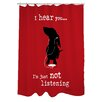 One Bella Casa Doggy Decor Not Listening Polyester Shower Curtain