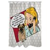One Bella Casa Doggy Decor Mr. Puddingstone Polyester Shower Curtain