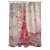 One Bella Casa Oliver Gal Love Letters Polyester Shower Curtain