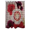 One Bella Casa Oliver Gal Victor Hugo's Love Declaration Polyester Shower Curtain