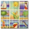 Gizaun Art Wile E. Wood Summer Beach Squares Wall Art