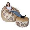 Big Tree Furniture Koze Fom Bean Bag Chair and Ottoman