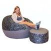 Big Tree Furniture koze fom Shredded Foam Bean Bag 50-inch Pedal Power Bianchi