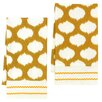 <strong>Divine Designs</strong> Ikat Circles Kitchen Towels (Set of 2)
