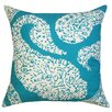 Divine Designs Overscale Paisley Cotton Pillow
