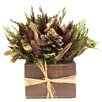 <strong>Urban Florals</strong> Holiday Spruce Desk Top Plant in Planter
