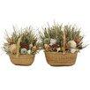 Urban Florals Summer Shoreline Grass in Basket 2 Piece Set