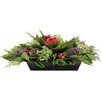 <strong>Urban Florals</strong> Holiday Rose Desk Top Plant in Planter