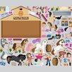 Mona Melisa Designs Horse Friends Interactive Wall Play Set