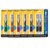 <strong>Bazic</strong> Prima Stick Pen with Cushion Grip (Set of 12)