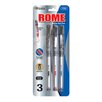 Bazic Rome Jumbo Rollerball Pen with Grip (Set of 3)