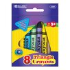 <strong>Bazic</strong> 8 Color Premium Quality Triangle Crayon