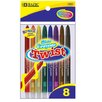 Bazic 8 Color Mini Propelling Crayon Set