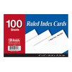 "Bazic 4"" x 6"" Ruled Index Cards"