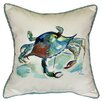 <strong>Coastal Crab Indoor / Outdoor Pillow</strong> by Betsy Drake Interiors