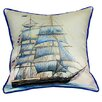 <strong>Betsy Drake Interiors</strong> Coastal Whaling Ship Indoor / Outdoor Pillow