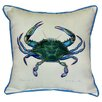 <strong>Coastal Male Crab Indoor / Outdoor Square Pillow</strong> by Betsy Drake Interiors