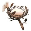 <strong>Dekorasyon Gifts & Decor</strong> Single Nest with Fine Bone China Bird & Egg Tealight