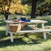 Rustic Natural Cedar Furniture Log Picnic Table