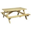Rustic Natural Cedar Furniture Picnic Table II