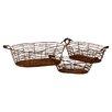 Urban Trends 3 Piece Metal Basket Set I