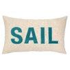 Peking Handicraft Nautical Applique Sail Throw Pillow