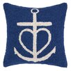 Peking Handicraft Nautical Hook Anchor Heart Pillow