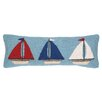<strong>Peking Handicraft</strong> Nautical Hook Sailboat Trio Pillow