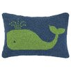 <strong>Peking Handicraft</strong> Nautical Hook Whale Pillow