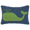 Peking Handicraft Nautical Hook Whale Pillow