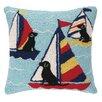 Peking Handicraft Nautical Hook Sailor Labs Pillow