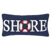 Peking Handicraft Nautical Hook Shore Life Buoy Pillow