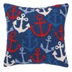 Peking Handicraft Nautical Hook Anchors Away Pillow
