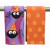 Peking Handicraft Funky Spiders Kitchen Towel (Set of 2)
