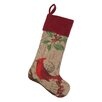 Peking Handicraft Cardinal Burlap Stocking
