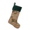 <strong>Peking Handicraft</strong> Deer Burlap Stocking