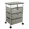 Richards Homewares 3 Drawer Eyelet Rolling Cart