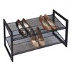 <strong>Bronze Angle Metallic 2 Tier Angled Stackable Shoe Rack</strong> by Richards Homewares