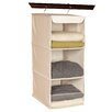 Richards Homewares Nature of Storage Canvas Natural 3 Shelf Sweater Organizer