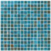 """Onix USA Classy 4/5"""" x 4/5"""" Glass Frosted Mosaic in Azul"""